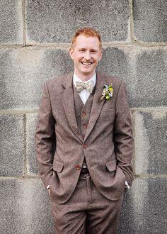Victor Valentine suit, map bow tie, scrabble buttonhole