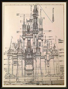 W.D.W. Cinderella's Castle schematics