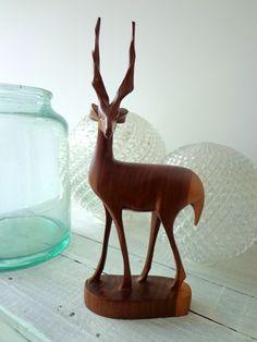 70ties wooden Deer