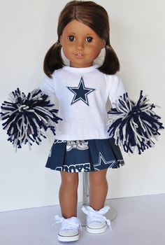 American Girl Dallas Cowboys Cheerleader Outfit: need to make it into Green Bay Packers colors!