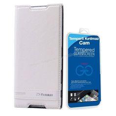 Sony Xperia Z5 Premium Mıknatıslı Lüx Kılıf Beyaz + Temperli Kırılmaz Cam -  - Price : TL33.90. Buy now at http://www.teleplus.com.tr/index.php/sony-xperia-z5-premium-miknatisli-lux-kilif-beyaz-temperli-kirilmaz-cam.html