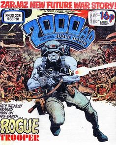 Support this trooper: Rogue is an AWOL soldier still fighting a future civil war. Originally drawn by Dave Gibbons, guv'nor! Comic Book Characters, Comic Character, Comic Books Art, Marvel Characters, 2000ad Comic, Dave Gibbons, Judge Dredd, Ad Art, Fantasy