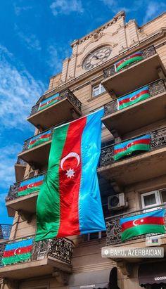 Azerbaijan Travel, Azerbaijan Flag, Baku City, Cute Panda Wallpaper, Panda Wallpapers, Cool Countries, The Good Place, Outdoor Decor, Photography