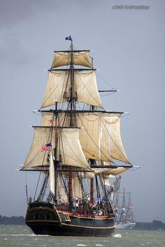 HMS Bounty leaving Savannah | Tall Ships Challenge,  May 2012