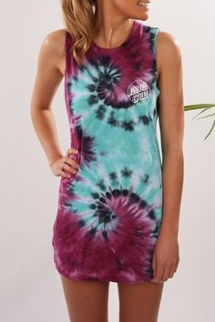 Santa Cruz - Classic Dot Muscle Dress Purple Haze $64.95 Shop // http://www.jeanjail.com.au/ladies/santa-cruz-classic-dot-muscle-dress-purple-haze.html