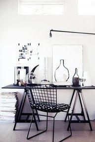 Preto e branco num design bem industrial.