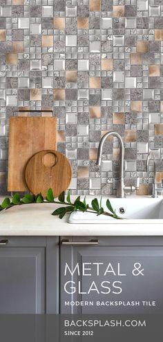 37 best metal kitchen backsplash tiles