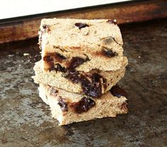 Healthy Chocolate Chip Cookie Bars | Fitzala