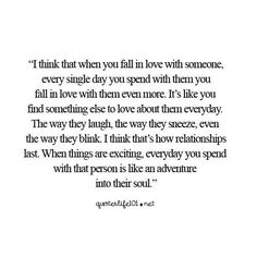 When you fall in love with someone..