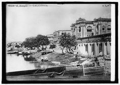 BANK OF BENGAL on bank the HOOGLY RIVER (CALCUTTA). PICTURED IN 1900-1910.   Bank of Bengal issued currency as early as 1810. CONTRIBUTED BY: HERBERT A. FRENCH IN 1947 TO NATIONAL PHOTO COMPANY LONDON.