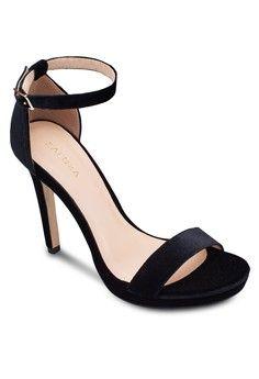 Platform Heeled Sandals from ZALORA in black_1