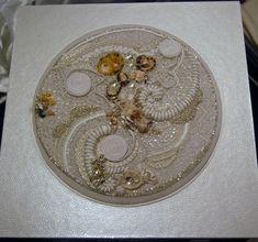 Perles de verre et de calcaire