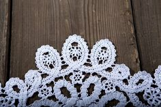 Beautiful white lace Doily. Cotton thread, knitted crochet technique. Made by…