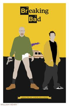 Breaking Bad poster by William Henry Prints available on Etsy at www.etsy.com/listing/158928566…. ——— View my portfolio at www.williamhenrydesign.com. Please get in touch. ...