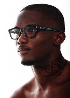 Samuel Eto'o dons tortoise shell glasses for John Richmond Eyewear.