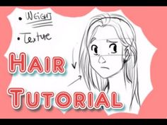 A couple of basic tips on how to draw hair, types of hair and haircuts, and how it's affected by different factors. Hair is one of my fave things to draw, so...