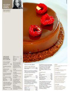 Retrouvez ma recette de petit gâteau chocolat et framboises disponible dans le Journal du Pâtissier n° 422