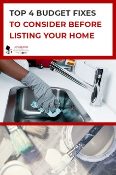 We all know looks matter when it comes to selling your home. But, sometimes it's hard to check all the boxes when things get hectic and money is tight. Check out this list for our top four budget fixes to consider before listing your home! Neutral Palette, Neutral Colors, Madison Homes, Tight Budget, Painting Cabinets, Paint Cans, Home Look, Deep Cleaning, Clean Up
