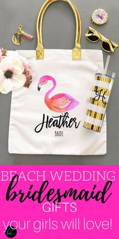 What a great idea for a destination wedding don't you think? These tote bags are soooo cute! These are perfect or your shower or bachelorette party don't you think? Bridesmaid Gifts From Bride, Bridesmaid Gift Bags, Asking Bridesmaids, Bridesmaid Proposal Gifts, Wedding Gifts For Bridesmaids, Beach Wedding Favors, Bridesmaids And Groomsmen, Will You Be My Bridesmaid, Wedding Souvenir