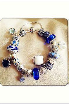 It's a bit over the top for me but I like some of the beads. Pandora Bracelet Charms, Pandora Rings, Pandora Jewelry, Pandora Collection, Bracelet Designs, Jewelery, Fine Jewelry, Monte Carlo, Beads
