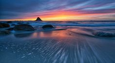 An evening with magnificent colors at Bleik, Andøya, Norway