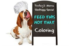 Feed Your Dog This Not That: Coloring http://slimdoggy.com/feed-your-dog-this-not-that-coloring/
