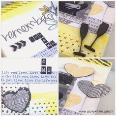 Inspírate con la colección Plus One de Amy Tangerine #scrapbooking #inspirate #madscraproject #MSP #plusone Amy Tangerine, Blog, Decor, Canvases, Decoration, Blogging, Dekoration, Inredning, Interior Decorating