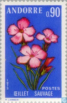 Andorra - French - Flowers 1973