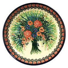 Unikat/Signature Polish Pottery Stoneware Dinner Plate - U2879 - T. Liana