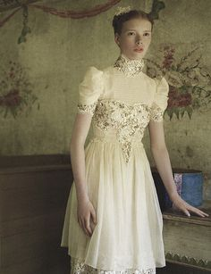 Swedish beauty Julia Hafstrom looks like royalty in Northern Women in Chanel photographed by Peter Farago