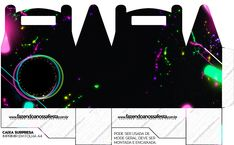 Resultado de imagem para caixa personalizadas neon para imprimir