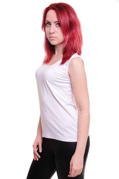 Майка А3783 Размеры: 46-48, 48-50 Цвет: белый Цена: 195 руб.  http://optom24.ru/mayka-a3783/  #одежда #женщинам #майки #оптом24