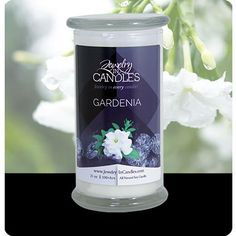 $24.95 for 21 oz candle Gardenia scent!  https://www.jewelryincandles.com/store/scentsbybrittany/p/171:c:98/floral-bouquets/gardenia-scented-candle/ 100% all natural soy, hand poured in the USA. 100-150 hours of burning time. Wall to wall scent. Smells like you have a gardenia bush right inside your home! Hidden jewelry surprise inside. Choose between a women's ring, necklace, or earrings. Pick your ring size 6, 7, 8, 9. Jewelry in Candles.