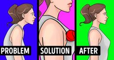 Modern life takes its toll on our posture when we spend hours sitting and neglect the position of our spine. Poor posture leads to an imbalance in our muscles which means that they can't support the … Shoulder Muscles, Back Muscles, Fix Rounded Shoulders, Trapezius Stretch, Biceps, Upper Back Exercises, Double Menton, Foam Roller Exercises, Shoulder Tension