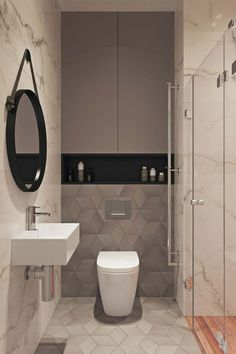 Splendid Small Toilet Design Ideas For Small Space In Your Home 38 Minimalist Bathroom Design, Bathroom Design Luxury, Modern Bathroom Design, Small Toilet Design, Small Toilet Room, Modern Toilet Design, Modern Design, Wc Design, Design Ideas