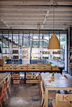 Supermarket, a former grocery store that's been transformed into a concept shop, featuring fashion, art, a spa and a restaurant. #travelinspiration #design #citybreak