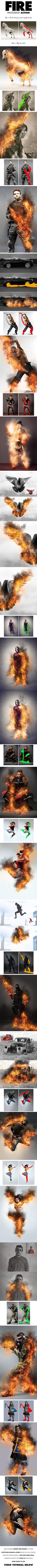 Sevenstyles Best Burning Fire Photoshop Action