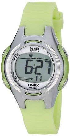 nice Women's T5K081 1440 Digital Watch with Light-Green Resin Strap - For Sale