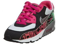 Nike Air Max 90 Print Ps Little Kids 704954-001 Pink Black Shoes Girls Size 12.5
