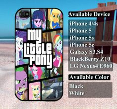 My Little pony case  iPhone 4/4s iPhone5 iPhone5s by vallenshop, $13.50