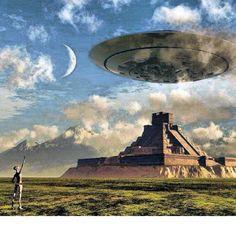 Aliens ..... Building Pyramids ..... UFO - myan - Mayan - alien - e.t.