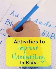 Activities to Improve Handwriting in Kids - Sloppy writer? Help them improve their handwriting with just a few simple steps!