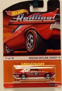 Nissan Skyline 2000GT-R RED * 2015 Hot Wheels * RedLine Heritage D Case. hard to find