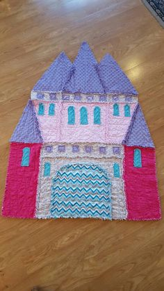 A personal favorite from my Etsy shop https://www.etsy.com/listing/269663132/castle-rag-quilt