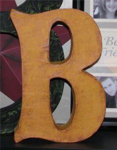 diy cereal box paper mache letter + tutorial