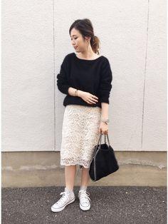mizuhoさんのスカート「コードレース スカート◆」(IENA|イエナ)を使ったコーディネートです。