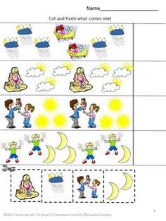 Day and Night Unit Activities | kindergarten - science | Pinterest ...
