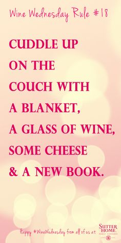 Happy #WineWednesday! Cuddling up on the couch sounds divine...