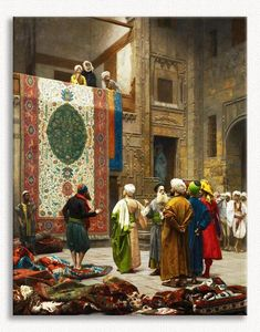 Jean-Leon Gerome Carpet Merchant in Cairo painting for sale, this painting is available as handmade reproduction. Shop for Jean-Leon Gerome Carpet Merchant in Cairo painting and frame at a discount of off. Jean Leon, Arabic Art, Illustration, Oil Painting Reproductions, Romanticism, Fine Art, Cairo, Islamic Art, Art History
