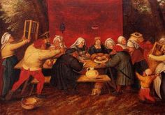 Giving Presents at a Wedding - Pieter Brueghel the Younger - The Athenaeum